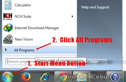 Windows Start Menu All Programs
