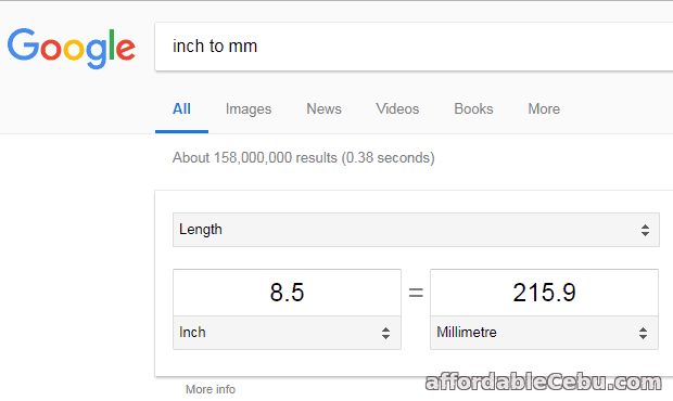 convert inch to mm
