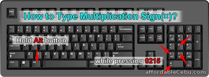 How to type multiplication sign in Microsoft Word