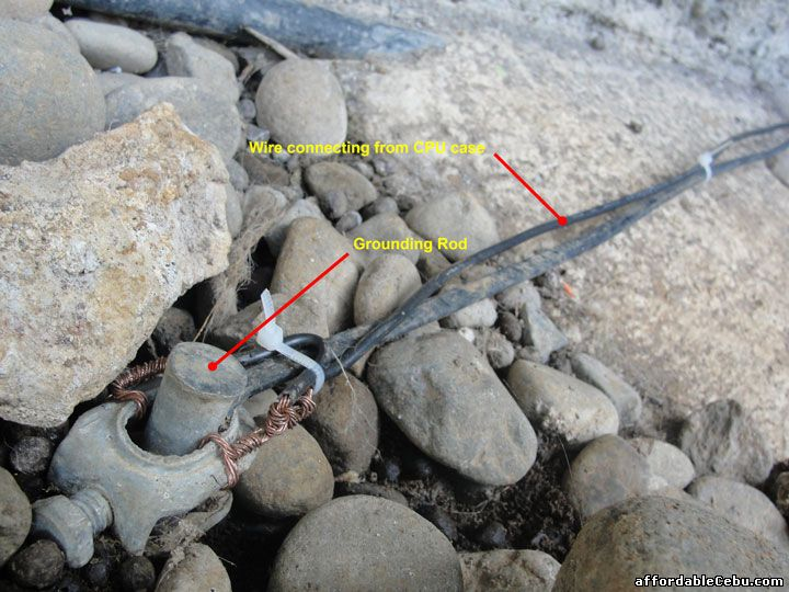 wire connecting to grounding rod (PLDT)