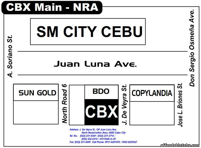 CBX Main Office Map NRA