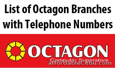 List of Octagon Branches with Telephone Number - Directory 29962