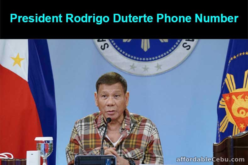 President Duterte Phone Number