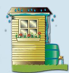 Save keep water from rain