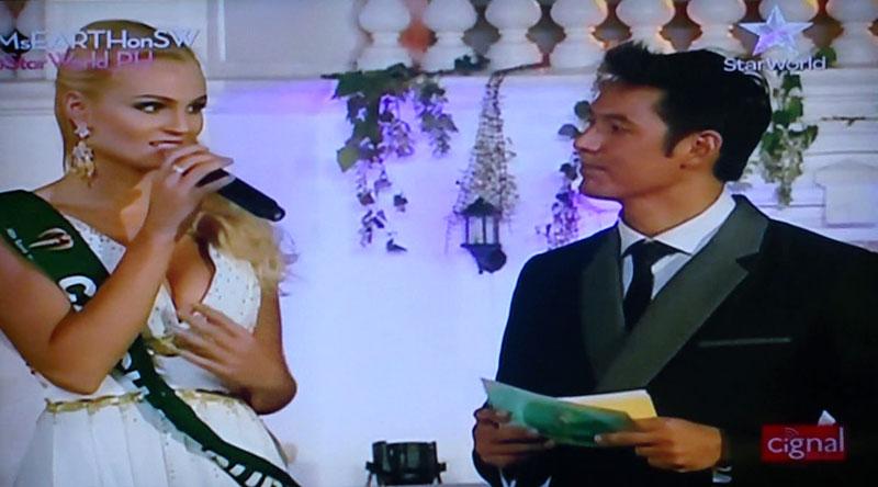 Tereza Fajksova answers Miss Earth 2012 question