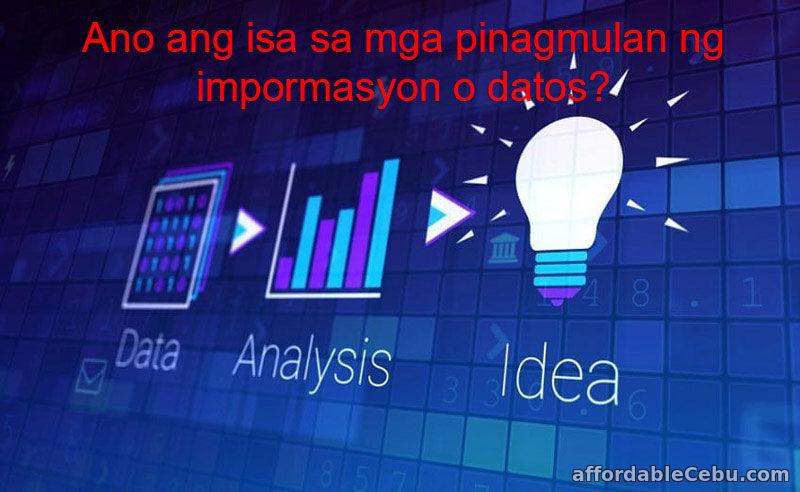 Pinagmulan ng impormasyon o datos