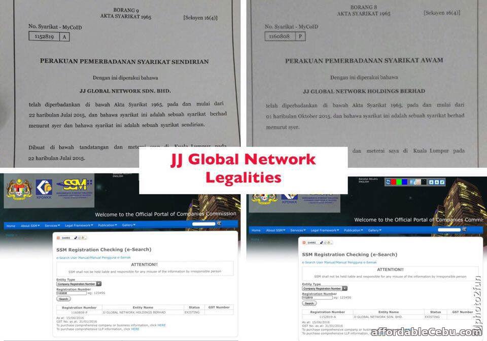 JJPTR - JJ Global Network Legalities Company Certificate of Registration