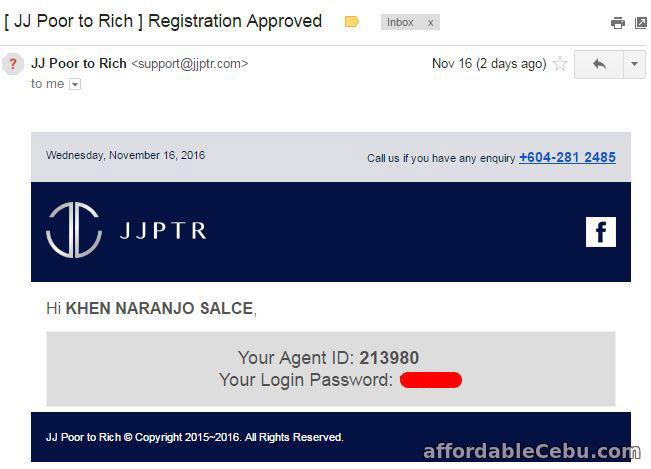 JJPTR Registration Approval Email Confirmation