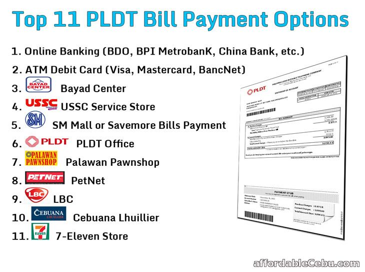 PLDT Bill Payment Options