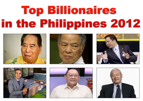 Top Billionaires in the Philippines 2012