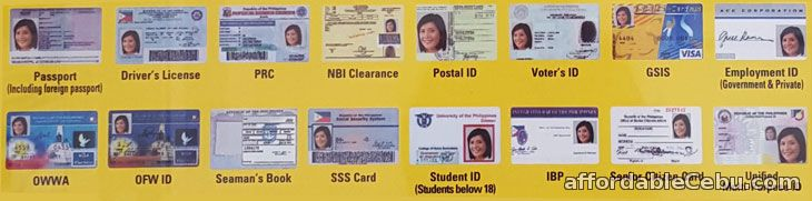 Valid IDs in Philippines
