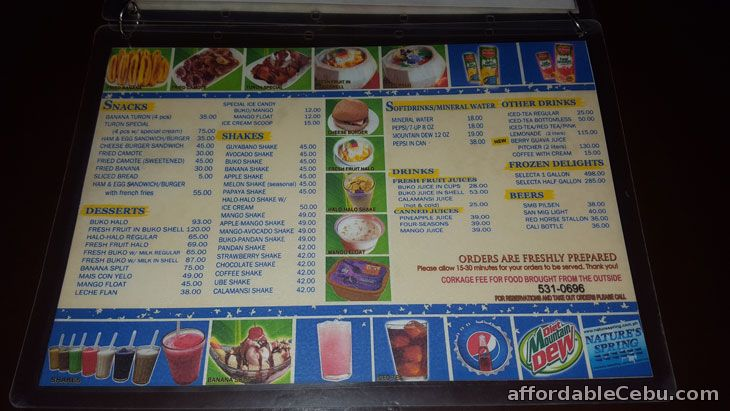 Chicken Ati-atihan Food Menu Pricelist