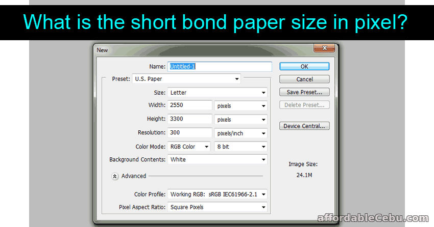 what is the short bond paper size in pixel photoshop graphics 30733