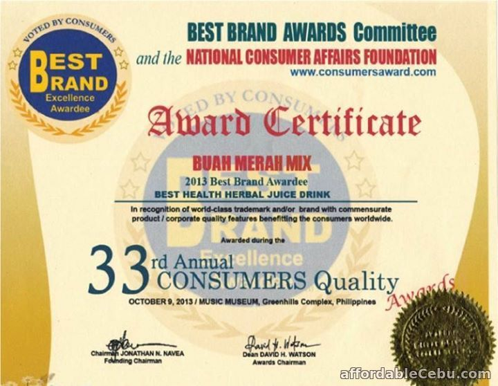 Buah Merah Best Brand Award
