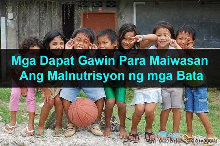 Mga Dapat Gawin Para Maiwasan ang Malnutrisyon ng Bata