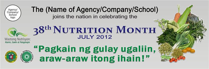 essay about nutrition month theme 2012 tagalog National nutrition month quiz  by: cooperhospital 8,723 responses 34/50 (29 votes) remove from favorites add to favorites completed 0 of 20.
