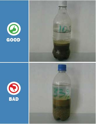 How to check good quality and clean sand