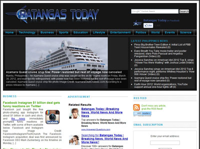 Batangastoday.com website