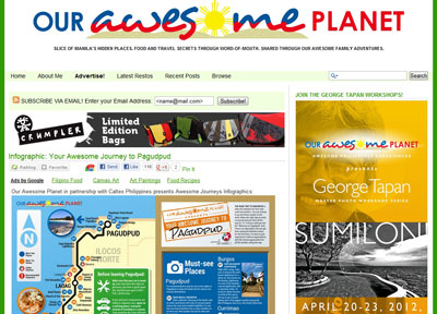 Ourawesomeplanet website