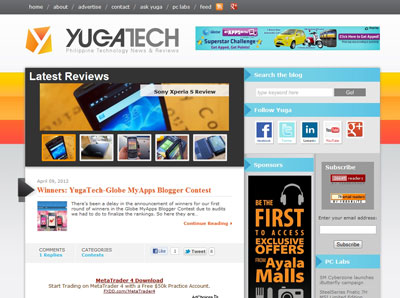 Yugatech website