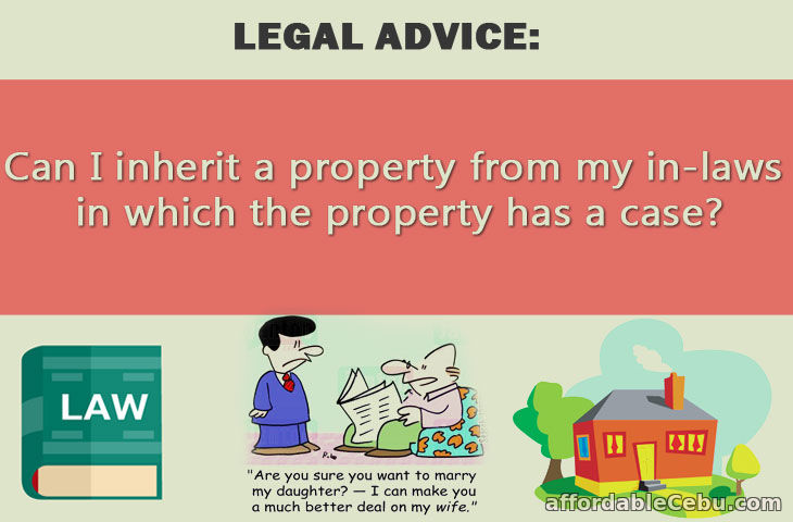 Inherit property from in-laws with problem