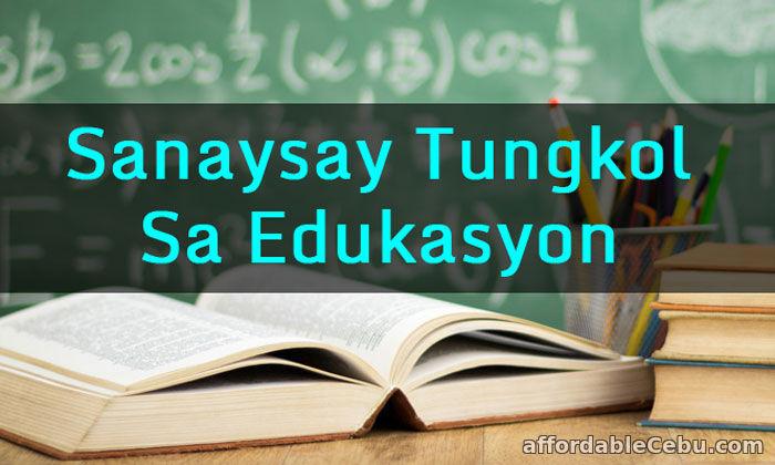Sanaysay Tungkol sa Edukasyon