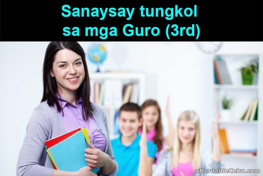 Sanaysay tungkol sa mga Guro (3rd)