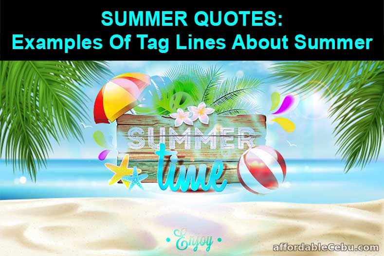 Summer Quotes: Tag Lines About Summer Examples