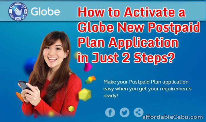 How to Activate a Globe New Postpaid Plan Application in