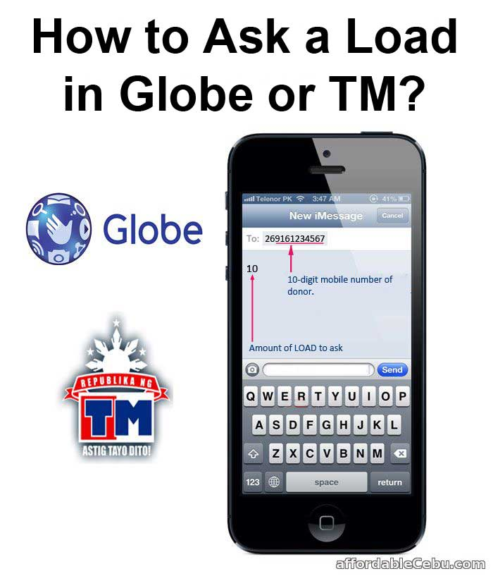 How to Ask Load in Globe or TM?