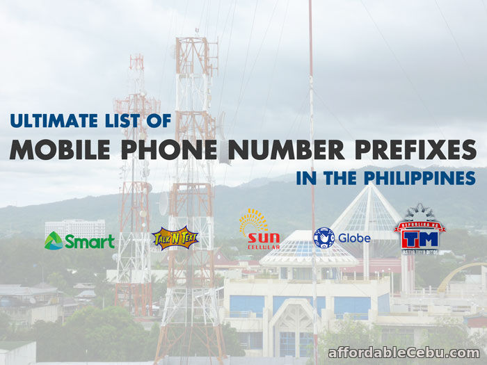 Mobile Phone Number Prefixes in Philippines