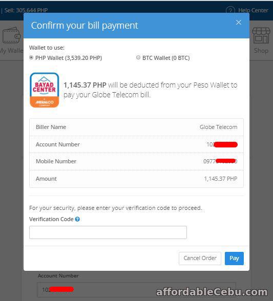 Pay Globe bill thru COINS.PH online