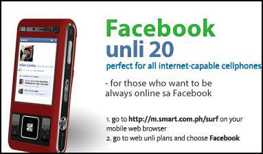 SMART Facebook unlimited internet 20