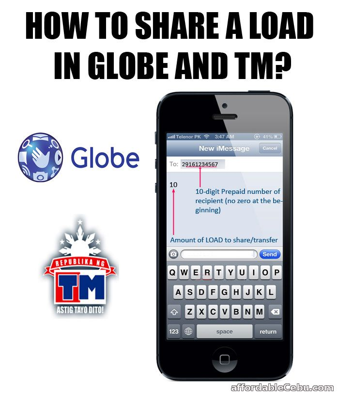 Share-a-Load in Globe and TM