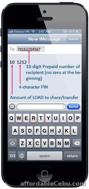 Share-a-Load in Globe/TM with PIN