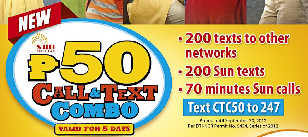 Sun Cellular Call and Text Combo 50