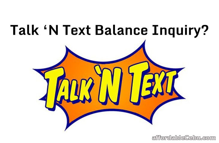 Talk N Text Balance Inquiry