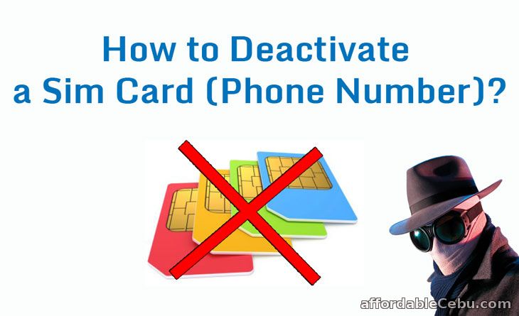Deactivate sim card phone number