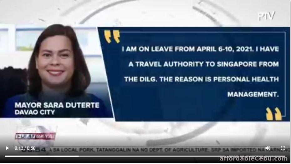 Sarah Duterte health issues