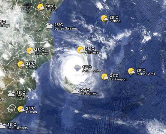 Cyclone Giovanna in Antananarivo, Madagascar