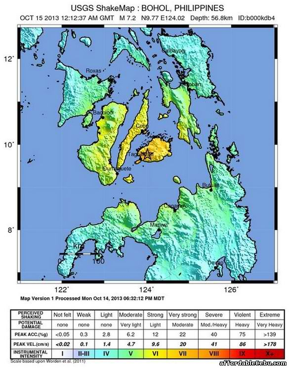 Earthquake in Mindanao Bohol