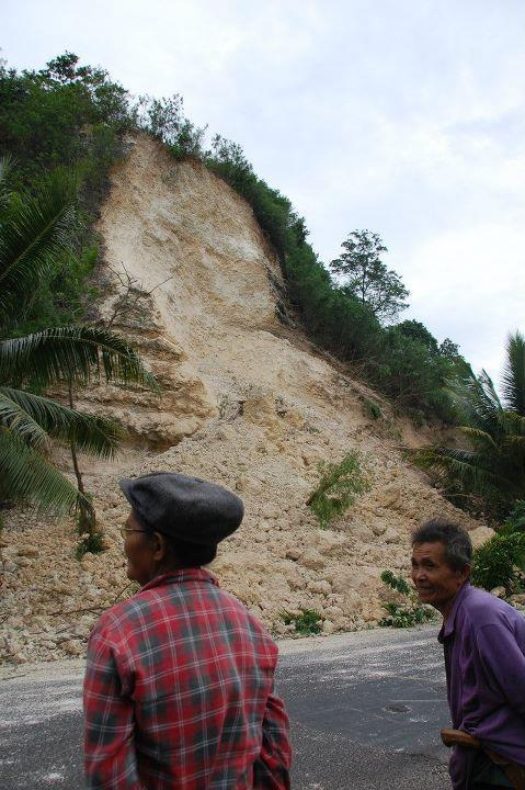 Earthquake causes landslide in Negros Occidental