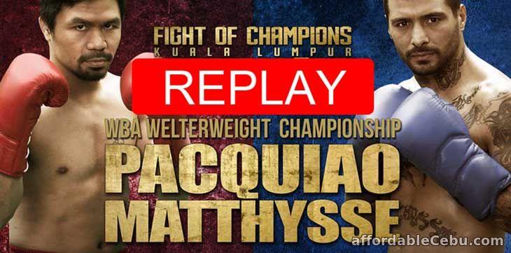 Pacquiao vs Matthysse Replay Video