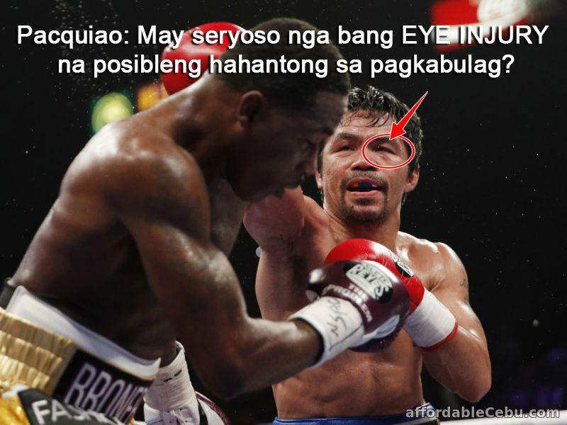 Manny Pacquiao eye injury - vision loss