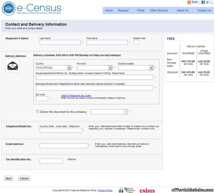Birth Certificate Online Application Form