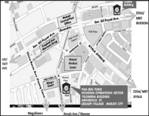 PAG-IBIG New Office Building Location