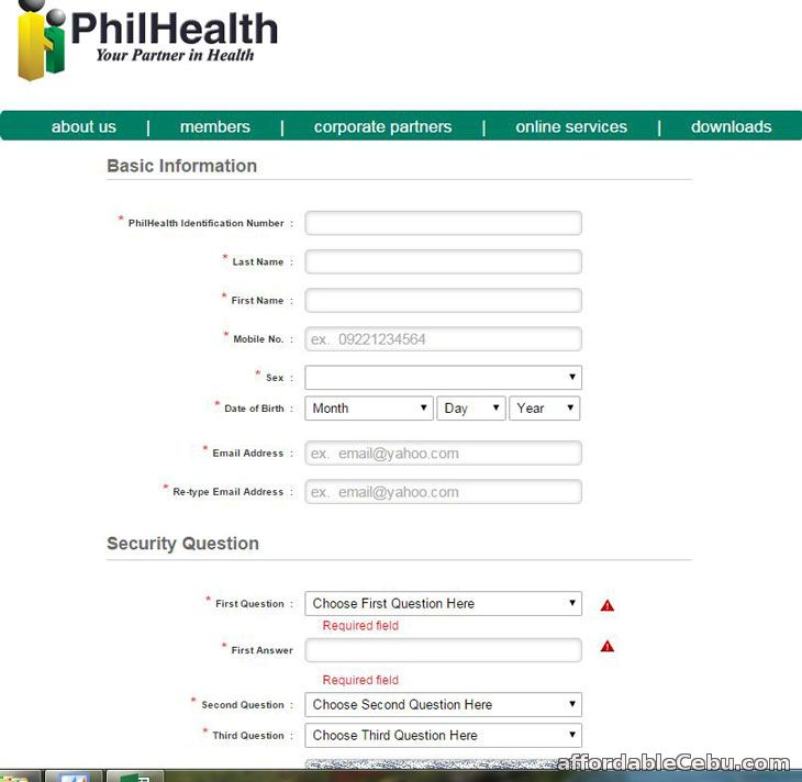 PhilHealth Registration Form Online