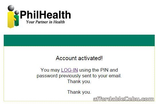 PhilHealth Account Activated
