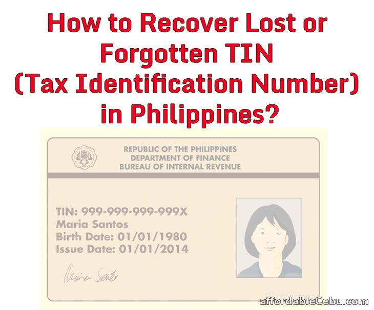 Recover Lost TIN in Philippines