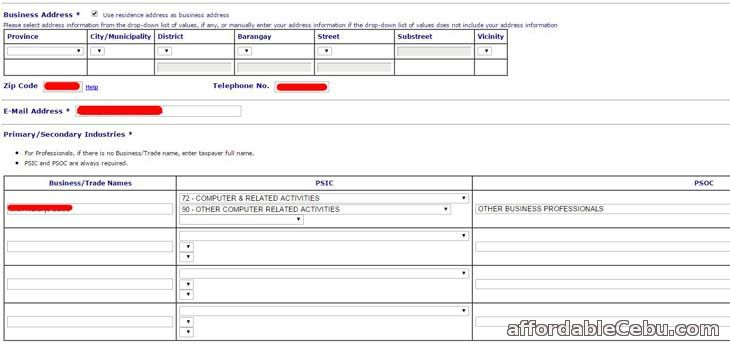 TIN online registration form 1b